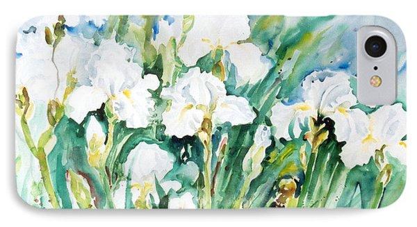 White Irises IPhone Case by Alexandra Maria Ethlyn Cheshire