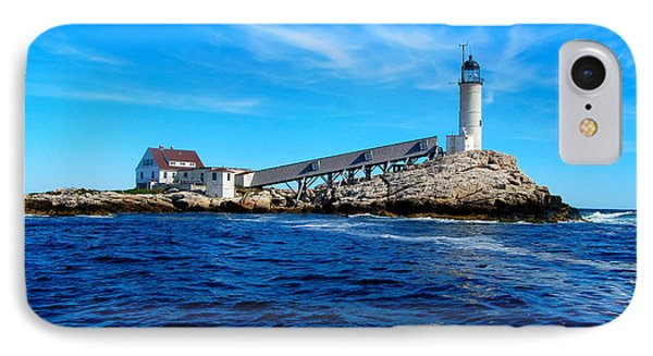 White Island Lighthouse IPhone Case by Bob Foudriat