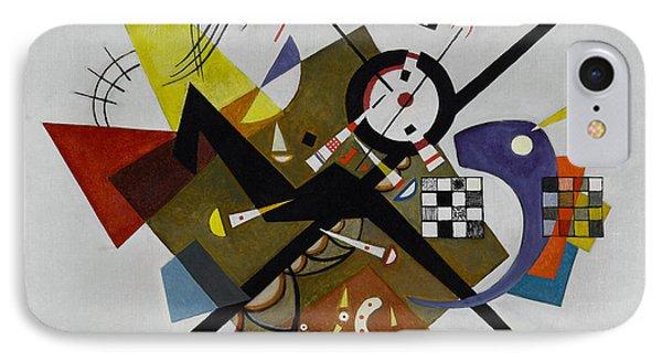 White IPhone Case by Kandinsky