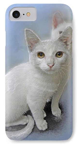 White Kittens Phone Case by Jane Schnetlage