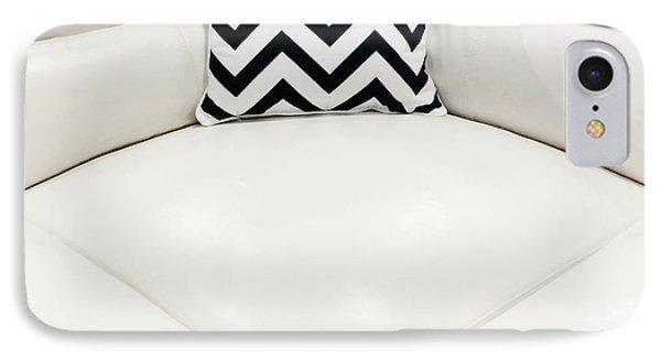 White Leather Sofa With Decorative Cushion IPhone Case