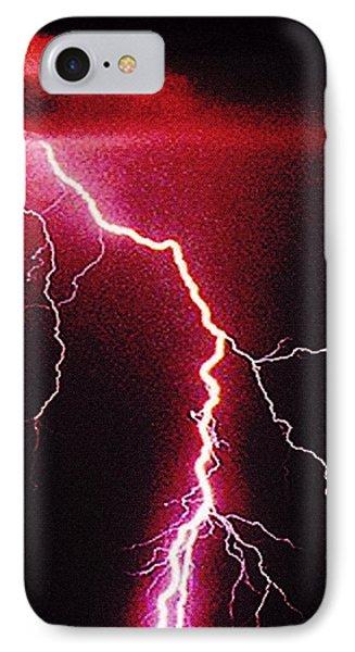 White Lightning Phone Case by Vicky Brago-Mitchell