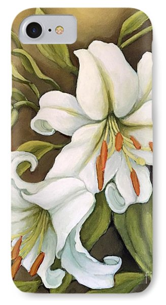 White Lilies IPhone Case by Inese Poga