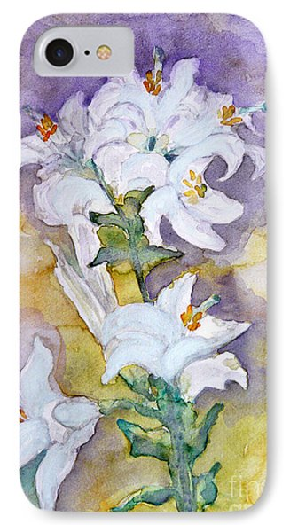 White Lilies IPhone Case by Jasna Dragun
