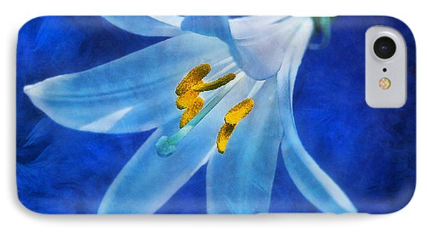 IPhone Case featuring the digital art White Lilly by Ian Mitchell