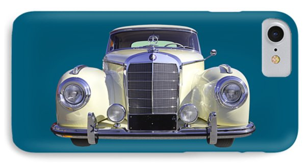 White Mercedes Benz 300 Luxury Car IPhone Case by Keith Webber Jr