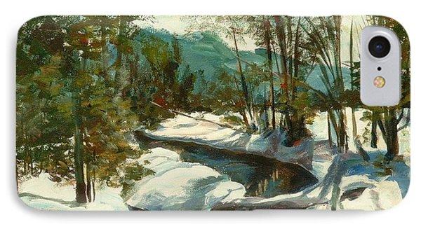 White Mountain Winter Creek Phone Case by Claire Gagnon