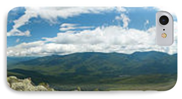 White Mountains Pano IPhone Case by Sebastian Musial