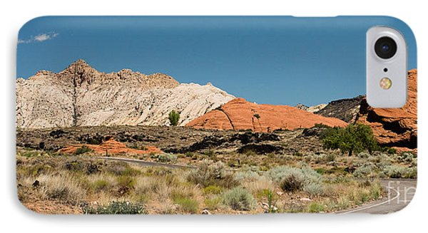 White Navajo Sandstone Petrified Sand Dune IPhone Case