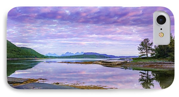 IPhone Case featuring the photograph White Night In Nordkilpollen Cove by Dmytro Korol