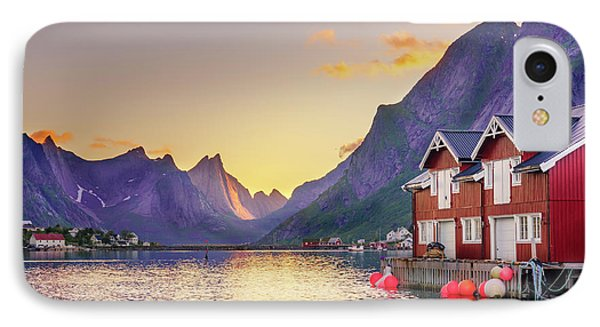 IPhone Case featuring the photograph White Night In Reine by Dmytro Korol