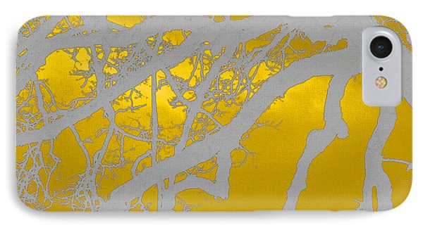 White Oak -yellow Orange IPhone Case by Tom Janca