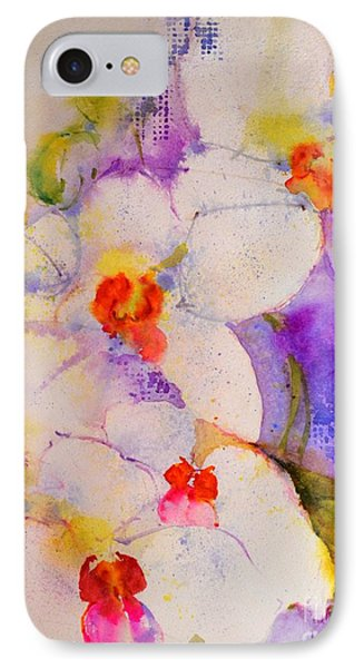 White Orchids IPhone Case by Betty M M Wong