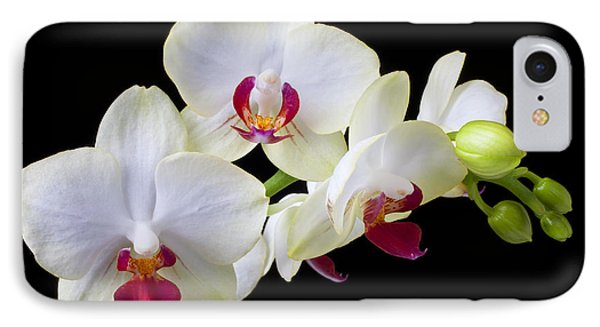 White Orchids Phone Case by Garry Gay