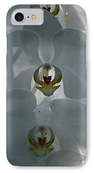 IPhone Case featuring the photograph White Orchids  by Teresa Blanton