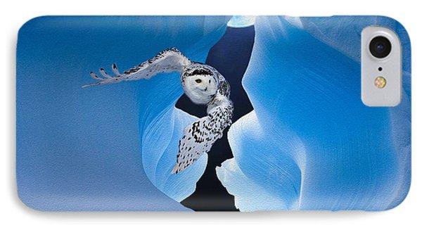 White Owl Phone Case by Jack Zulli