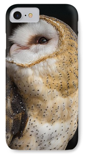 White Owl Portrait IPhone Case by A O Tucker