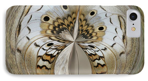 White Peacock Butterfly Orb IPhone Case