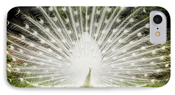 White Peacock  IPhone 7 Case by Dustin K Ryan