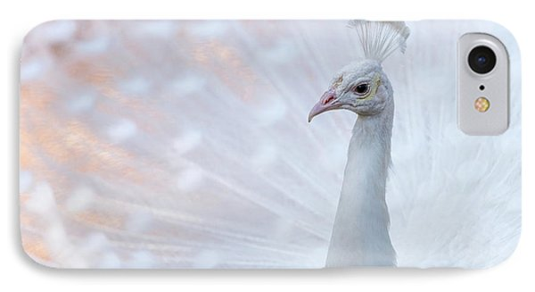 White Peacock IPhone Case by Sebastian Musial