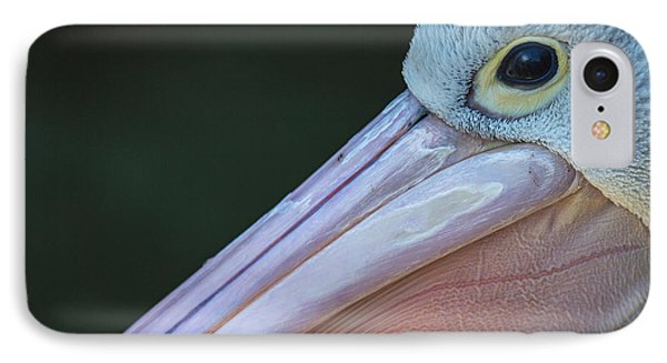 White Pelican Close Up Phone Case by Avalon Fine Art Photography