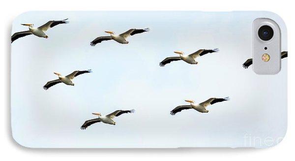 White Pelican Flyby Phone Case by Ricky L Jones