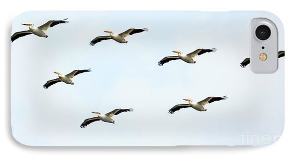 IPhone Case featuring the photograph White Pelican Flyby by Ricky L Jones