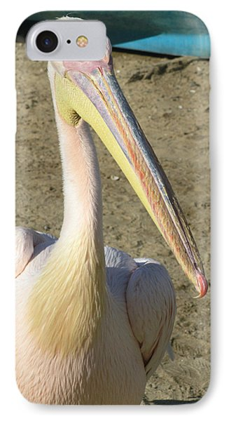 White Pelican IPhone Case by Sally Weigand