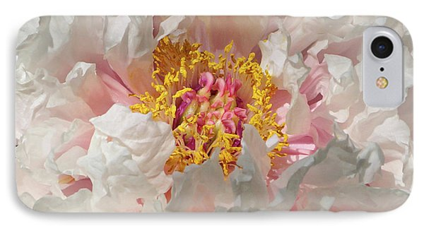 IPhone Case featuring the photograph White Peony by Sandy Keeton