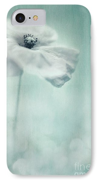 White Poppy IPhone Case