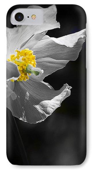 White Poppy Phone Case by Svetlana Sewell