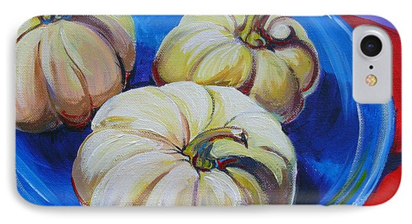 White Pumpkins IPhone Case