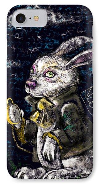 White Rabbit IPhone Case by Alessandro Della Pietra