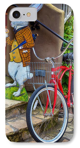 White Rabbit And Bike IPhone Case by Garry Gay