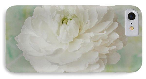 White Ranunculus Phone Case by Sandra Foster