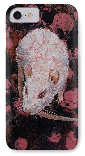 White Rat IPhone Case