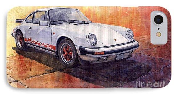 White Red Legend Porsche 911 Carrera IPhone Case by Yuriy Shevchuk