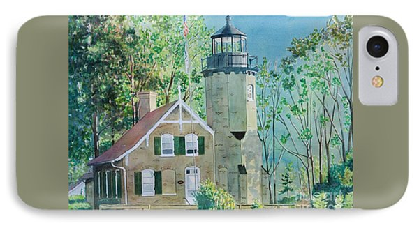 IPhone Case featuring the painting White River Light by LeAnne Sowa