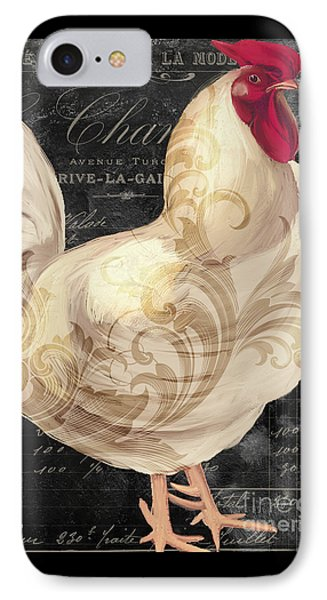 White Rooster Cafe I IPhone Case by Mindy Sommers