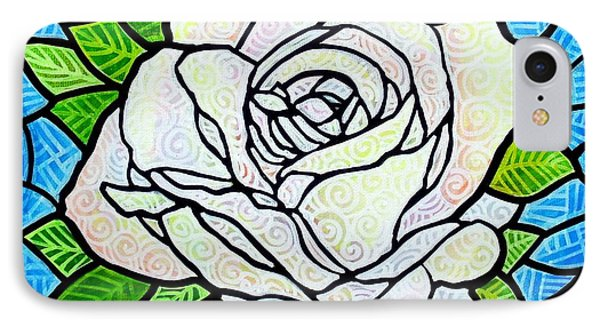 White Rose  IPhone Case by Jim Harris