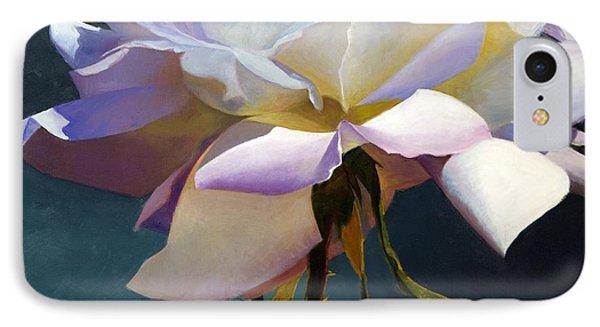 White Rose Of Eden IPhone Case