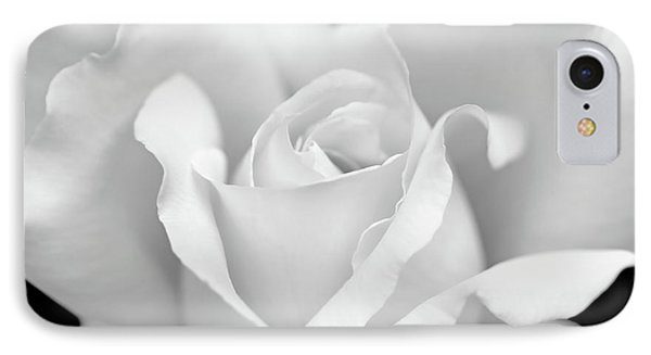 IPhone Case featuring the photograph White Rose Purity by Jennie Marie Schell