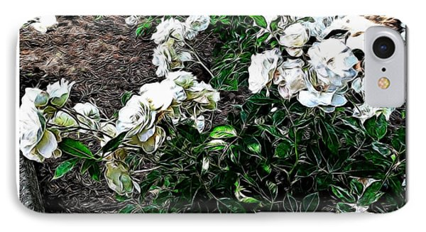 IPhone Case featuring the photograph White Roses by Joan  Minchak