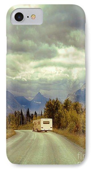 White Rv In Montana IPhone Case by Jill Battaglia
