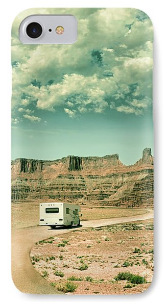 White Rv In Utah IPhone Case by Jill Battaglia