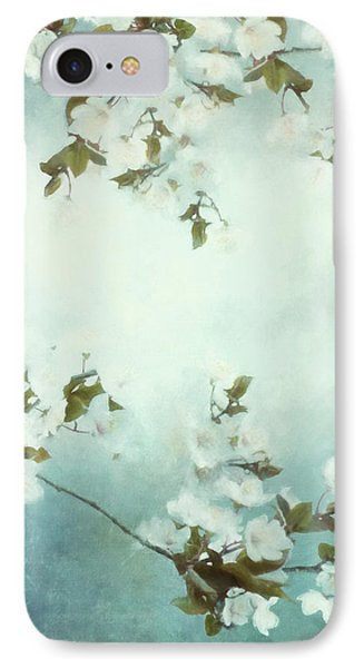 White Sakura Blossoms IPhone Case by Shanina Conway