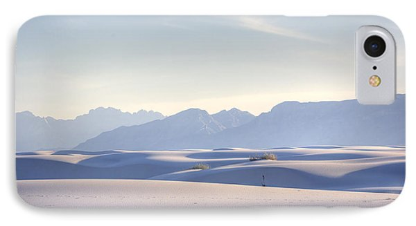 Desert iPhone 7 Case - White Sands Blue Sky by Peter Tellone
