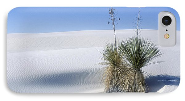 White Sands Dune And Yuccas Phone Case by Sandra Bronstein