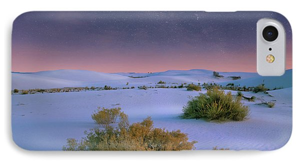 White Sands Starry Night IPhone Case by Tim Fitzharris