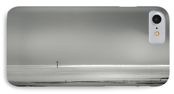 White Sandy Shore- B/w IPhone Case by Marvin Spates